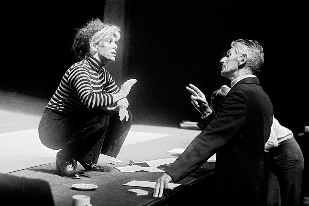 Samuel Beckett and Billie Whitelaw in rehearsal