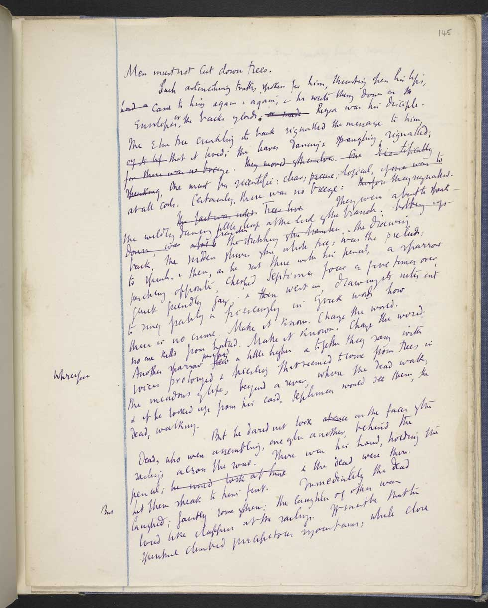 Mrs Dalloway, Virginia Woolf, f.145r