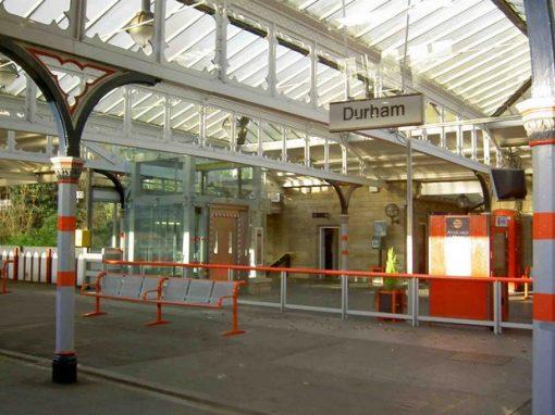 EXT. Southbound Platform. Durham Station07.55